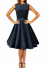 102 NEW AUDREY MID NIGHT BLUE ROCKABILLY EVENING PROM DRESS SIZE 8 BNWT