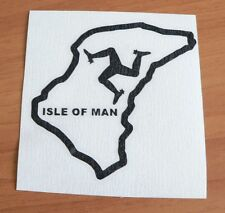 adesivo decal sticker ISLE OF MAN ritagliato ISOLA DI MAN pista racing TT DUNLOP