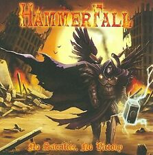 NO SACRIFICE NO VICTORY Hammer Fall  An Ex Library No plastic case CD is great