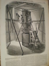 The Altitude and Azimuth instrument Royal Observatory Greenwich 1847 old print