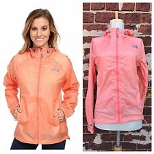 North Face XS Orange Cloud Venture Lightweight Zip Up Rain Jacket Windbreaker