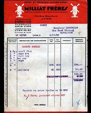 """LYON (69) USINE de PATES & PRODUITS ALIMENTAIRES """"MILLIAT Freres"""" en 1935"""