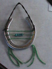 Hand Beaded & Decorated Horse Shoe & Texas Barb Wire -Green/luck