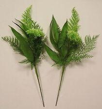 Pack of 2 Artificial Fern & Bay Leaf Spray - 46cm