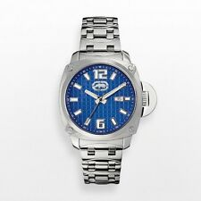 NEW Mens Marc Ecko UNLTD Watch The McQueen Blue Stainless Steel E8M111MV $90