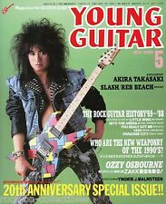 Young Guitar Magazine May 1989 Japan Loudness Winger Zakk Wylde Slash