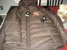 Mens Nike NFL ON FIELD CLEVELAND BROWNS SIDELINE Parka WINTER JACKET 3XL NWT