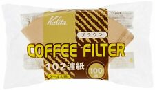 New Kalita Coffee Paper Filter Brown 102 For 2-4 cup 100 Sheet Free Shipping