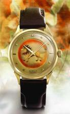 GÜBELIN | A FINE AND RARE YELLOW GOLD AUTOMATIC CENTER SECONDS WRISTWATCH WIT...