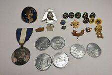 25 pieces 1960's Vintage Boy Scout & Cub Scout Pins Medals Coins