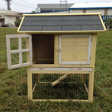 "DELUXE 37"" Rabbit Hutch Poultry Cage Bunny Chicken Coop Guinea Pig Ferret Hen"