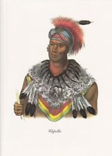 """1972 Vintage Full Color Art Plate """"CHIEF WAPELLA"""" NATIVE AMERICAN INDIAN Litho"""