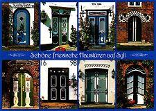 Schöne friesische Haustüren auf Sylt ,Ansichtskarte, 1988 gelaufen