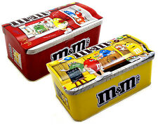 2 x M&M TIN BOX (YELLOW & RED HOUSE), EMPTY BOX