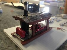ULRICH HO SCALE STEAM DONKEY ENGINE ON SKID WITH WITH ROOF ALL METAL LOGGING