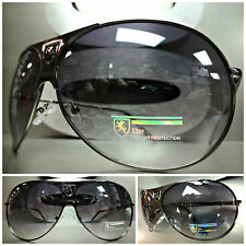 Men's or Womens CLASSIC OVERSIZE VINTAGE Style SUN GLASSES SHADES Gunmetal Frame