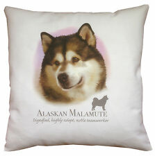 Alaskan Malamute | Quality 100% Cotton Cushion Cover with Zip | Howard Robinson