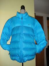 NWT NIKE 550 Gray Duck Down Filled Duvet Jacket,  Royal Blue, size XXL