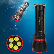 10000LM Underwater 100m 5x XM-L2 CREE LED Scuba Diving Flashlight Lamp Torch