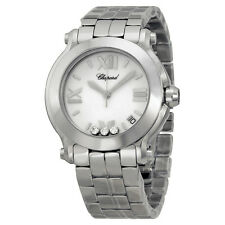 Chopard Happy Sport White with Diamonds Dial Ladies Watch 278477-3013