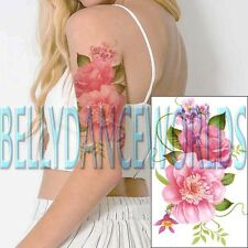 LARGE PINK ROSE FLOWER FLORAL BLOSSOM TEMPORARY TATTOO ARM THIGH BELLY STICKER