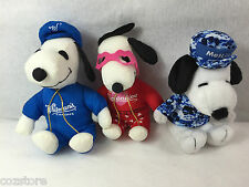 Peanuts United Feature Snoopy Stuffed Toy Whitman's Met Life Valentine Lot Of 3