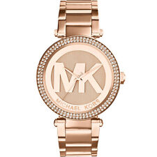 MICHAEL KORS MK5865 Parker Pave Dial Rose Gold Tone Ladies Wrist Watch