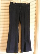 Banana Republic Stretch Denim Dark Wash Blue Flare Jeans Women's Size 2 Petite