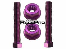 RacePro - Purple Titanium Axle Chain Adjuster Bolts - Suzuki RGV250SP (VJ23)