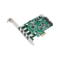 Syba 4 Port USB 3.0 and 2 Port SATA III PCIe 2.0 X 1 Card VLI/ASMedia Chipset...