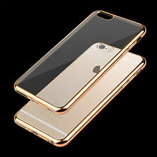 ShockProof Silicone Bumper Clear Slim Case Cover For Apple iphone 5S 6 6S 7 Plus