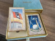 ANTIQUE TIFFANY & CO Blue Velvet 1939 Worlds Fair ~ PLAYING CARDS ~ 2 DECK