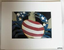 Photograph Matted Patriotic Stars and Stripes Lobster Maine Dressel 2007