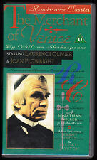 THE MERCHANT OF VENICE - LAURENCE OLIVIER - JONATHAN MILLER - VHS PAL (UK) VIDEO