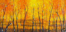 ART PAINTING ABSTRACT landscape  forest TREES LARGE SIZE 180cm x90cm