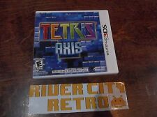 Tetris: Axis (Nintendo 3DS, 2011) Complete Good Condition Fast Shipping Fun Game