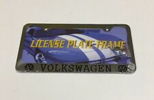 1 PC ENGRAVED VOLKSWAGEN STAINLESS STEEL METAL LICENSE PLATE FRAME  LPF-322 VW