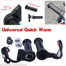 12V Motorcycle / Motorbike Heated Grips Handlebar Keep Warm Hands Hot Pair New