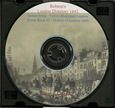 Robson's London Directory 1842 + London Illustrated 1851