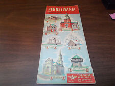 1940s Flying A Pennsylvania Vintage Road Map