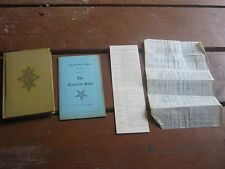 1929 New Ritual Order Eastern Star 1951 Queen City Chapter No. 6957 Program 1952