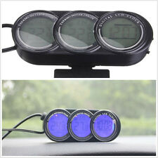 1 pcs Car Mini LCD LED Dual Thermometer Alarm Clock Illuminated Digital Display