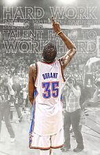 "Kevin Durant VS Lebron James Basketball Star Fabric poster 36"" x 24"" Decor 75"