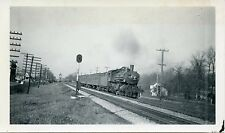 6A693 RP 194? C&NW CHICAGO & NORTH WESTERN RAILROAD ENGINE #152 AT SPEED