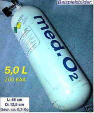 5L Med SAUERSTOFFFLASCHE 200Bar SAUERSTOFF FLASCHE O2 LINDE DRÄGER OXYLOG BOTTLE
