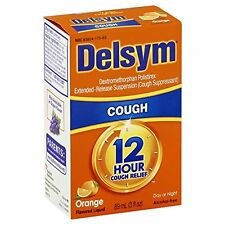 6 Pack - Delsym Adult 12 Hour Cough Relief Orange 3 oz Each
