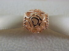 NEW!! AUTHENTIC PANDORA CHARM ROSE COLLECTION OPEN YOUR HEART #780964