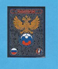 PANINI-EURO 2016-Figurina n.124- SCUDETTO/BADGE - RUSSIA -NEW BLACK