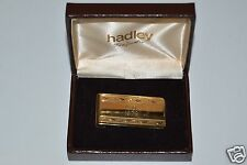 "WOW Nice Vintage Hadley Engraved Personalized ""A.D. 1979"" Money Clip w/ box Rare"