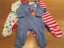 Next Baby Boys Sleepsuits First Size BNWT - Next Boys Newborn Babygrows